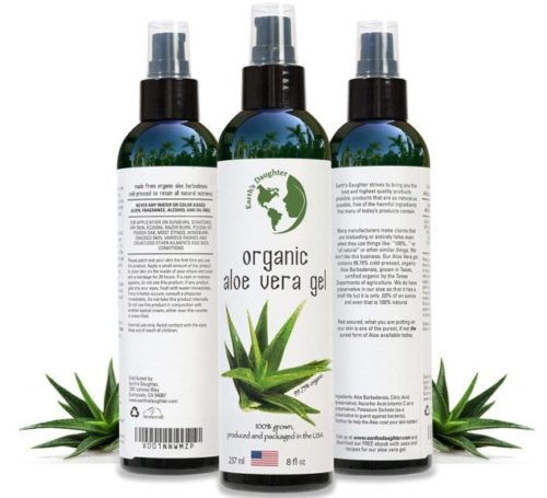 7.Organic Aloe Vera Gel from 100% Pure and Natural Cold Pressed Aloe - Great for Face - Hair - Acne - Sunburn - Bug Bites - Rashes - Eczema - 8 oz.