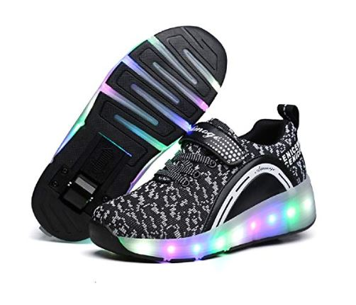 8.Nsasy Roller Shoes Girls Boys Wheel Shoes Kids Roller Skates Shoes LED Light Up Wheel Shoes for Kids for Kids for Children