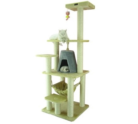 1.Aeromark International Armarkat Cat Tree Furniture Condo, Height- 60-Inch to 70-Inch