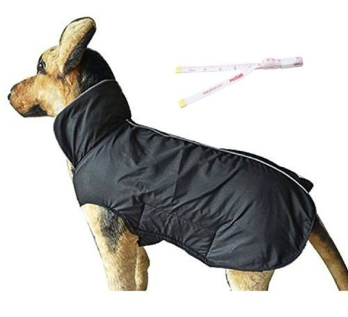 1.PETCEE Waterproof Dog Jacket, Soft Fleece Lined Dog Coat for Winter, Outdoor Sports Pet Vest Snowsuit Apparel Double Surface