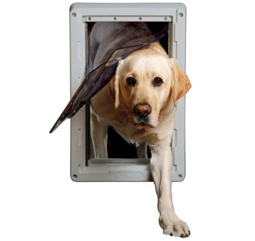 10.Ideal Pet Products Designer Series Ruff-Weather Pet Door with Telescoping Frame