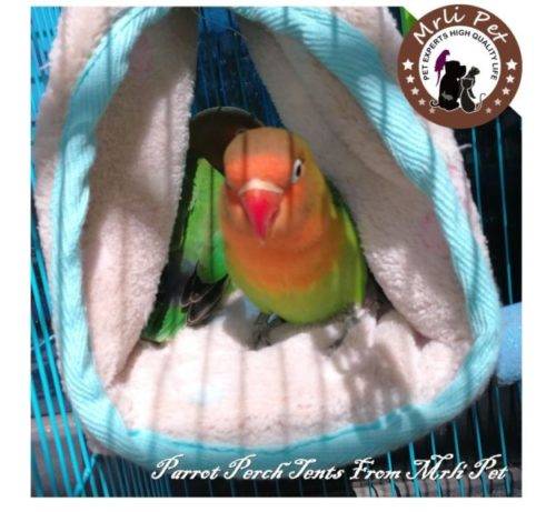 10.Parrot Perch Tents, Mrlipet Winter Warm Bird Nest House Plush Hammock Hanging Cave Happy Hut Hideaway for Macaw African Grey Amazon Eclectu Parakeet