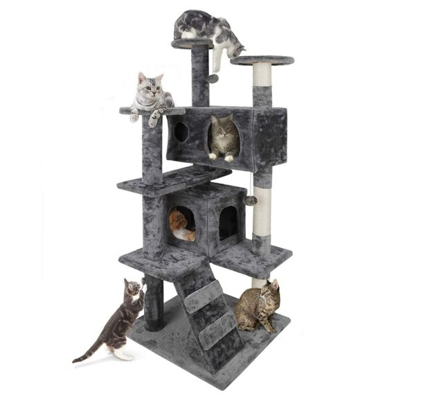 11.Nova Microdermabrasion 53 Multi-Level Cat Tree Stand House Furniture Kittens Activity Tower with Scratching Posts Kitty Pet Play House