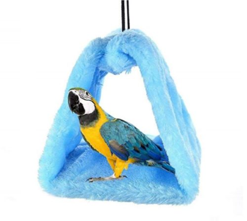 12.Love shops Plush Snuggle Bird Hammock Hanging Snuggle Cave Happy Hut Bird Parrot Hideaway
