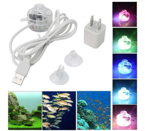 12.Supshopping LED Aquarium Light Fixtures Small Gallon Submersible Planted Fish Tank Lights for Saltwater and Freshwater Aquariums