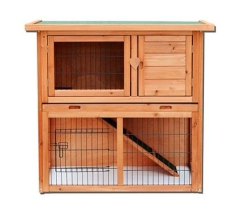 13.Yoshioe 36 2 Tiers Rabbit Bunny Dog Wooden Pet Hutch House with Waterproof Spacious Inner Room Lockable Doors for Small Animals