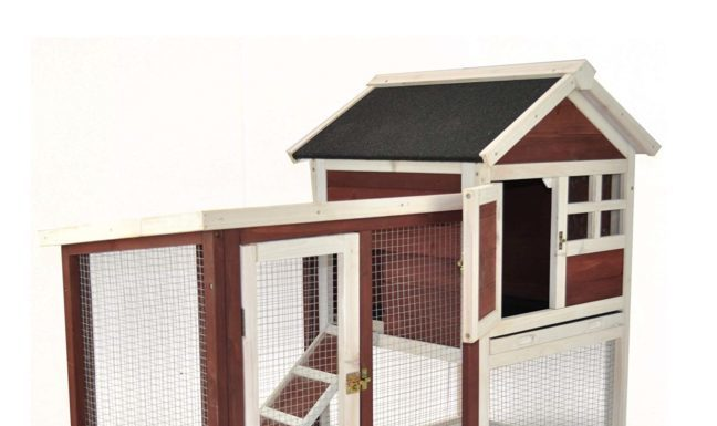 2.Advantek Stilt House Rabbit Hutch Farmhouse Red