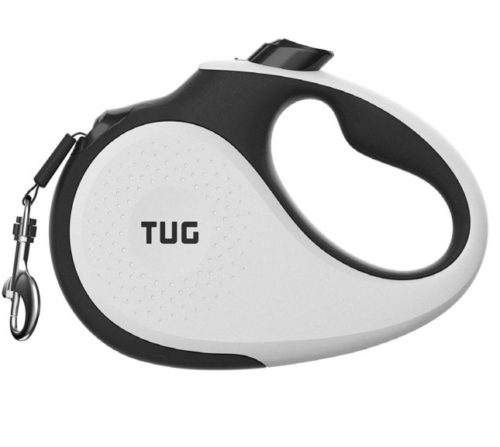 2.TUG Patented 360° Tangle-Free, Heavy Duty Retractable Dog Leash with Anti-Slip Handle; 16 ft Strong Nylon Tape Ribbon; One-Handed Brake, Pause, Lock