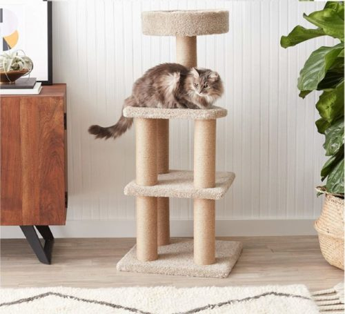 4.AmazonBasics Cat Activity Tree with Scratching Posts