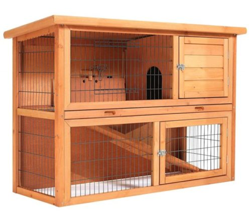 4.SmithBuilt 48 Rabbit Hutch - Two Story Wood Bunny Cage