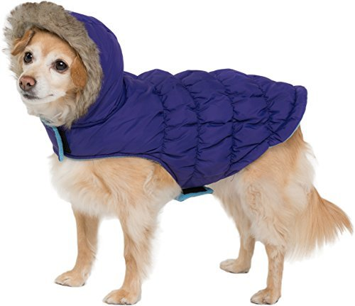 5.Friends Forever Sherpa and Quilted Winter Vest for Small Size Dogs Only, Coat Sweater Hoodie Outwear Apparel
