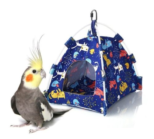 5.Keersi Winter Warm Bird Nest House Bed Hut Hanging Hammock Toy for Parakeet Cockatiel Cockatoo Conure Lovebird Budgie African Grey Amazon