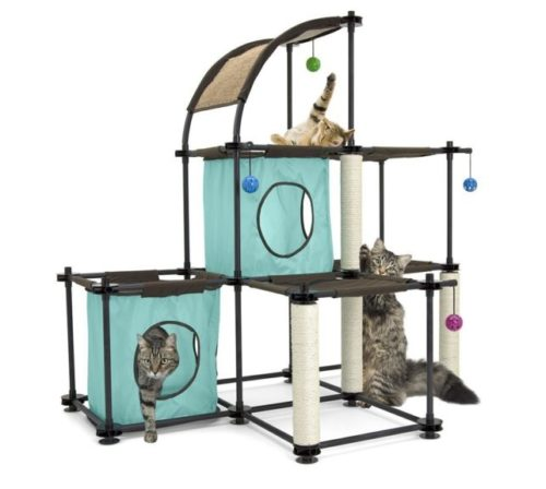 5.Kitty City Claw Mega Kit Cat Furniture, Cat Condo Collection, Cat Toy, Cat Tree