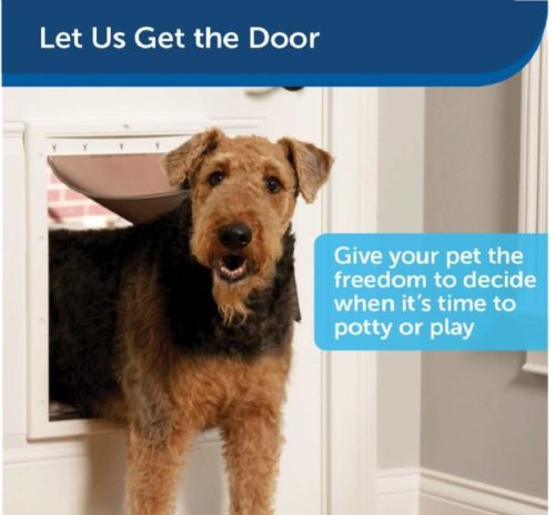 6.PetSafe Plastic Pet Door with Soft Tinted Flap - Small, Medium, Large and X-Large Door for Dogs and Cats