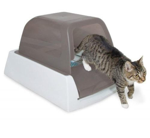 6.PetSafe ScoopFree Ultra Automatic Self Cleaning Hooded Cat Litter Box – Includes Disposable Trays with Crystal Litter and Hood - 2 Colors