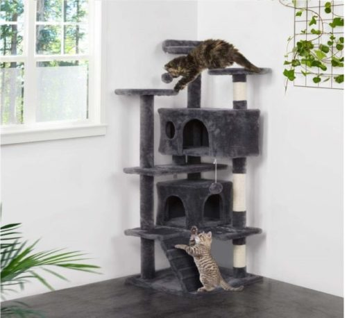 6.Yaheetech 51in Cat Tree Tower Condo Furniture Scratch Post for Kittens Pet House Play