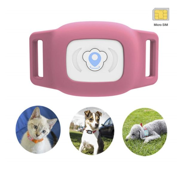 8.BARTUN Mini Pet Tracker GPS Locator for Dogs Cats 28lb Waterproof IP67 Real Time Activity Monitor AGPS LBS SMS Positioning Tracking Device with Collar Included SIM Card