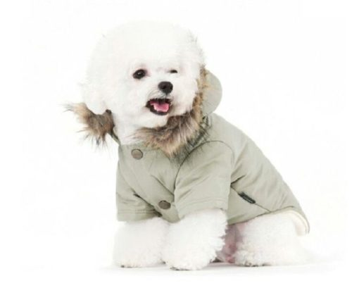 8.PetBoBo Cat Dog Doggie Down Jacket Hoodie Coat Pet Clothes Warm Clothing for Small Dogs Winter Black XS