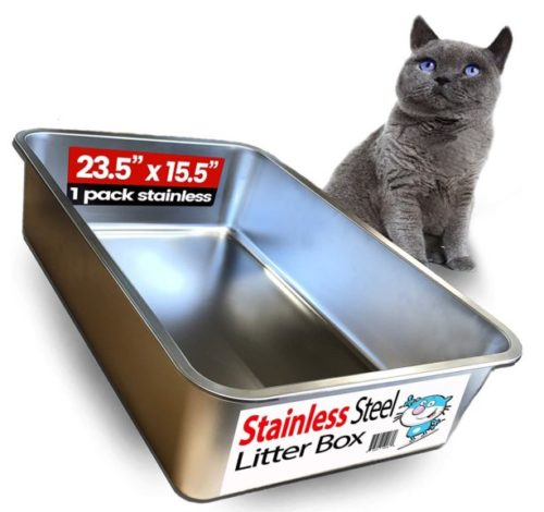 8.iPrimio Ultimate Stainless Steel Cat XL Litter Box - Never Absorbs Odor, Stains, or Rusts - No Residue Build Up - Easy Cleaning Litterbox Designed by Cat Owners (1 Pan)