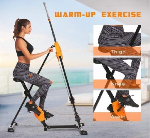 11.Steel Alloy Stair Climber Machine, Folding 2 in 1 Climbing Stepper Home Gym, Exercise Folding Climbing Machine,Vertical Climbing Exercise Machine