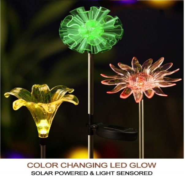 10.Bright Zeal Solar Stake Lights, Life-Size Figurines LED