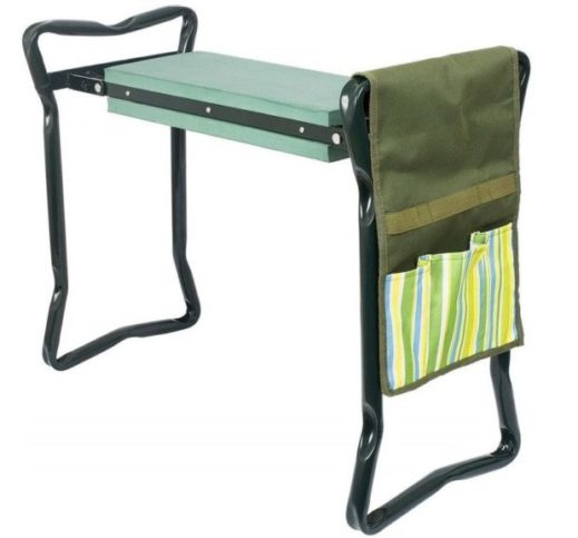 10.Garden Kneeler and Seat with Bonus Tool Pouch, Foldable Stool