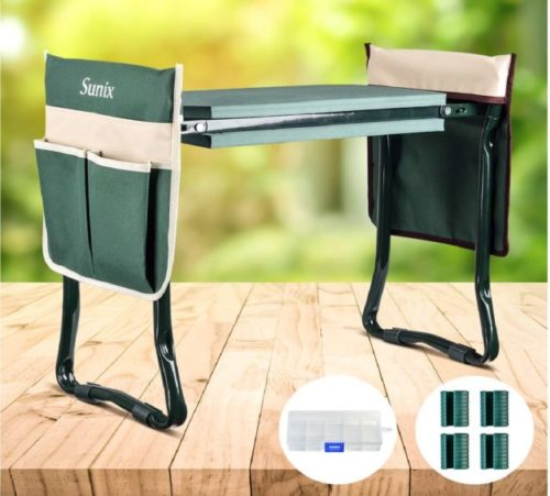 15.Folding Garden Kneeler and Seat, with 2 Free Tool Pouch