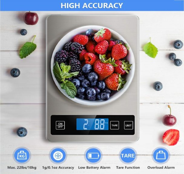 15.Nicewell Food Scale, 22lb Digital Kitchen Scale