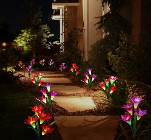 7.Solar Lights Outdoor - New Upgraded Solar Garden Lights
