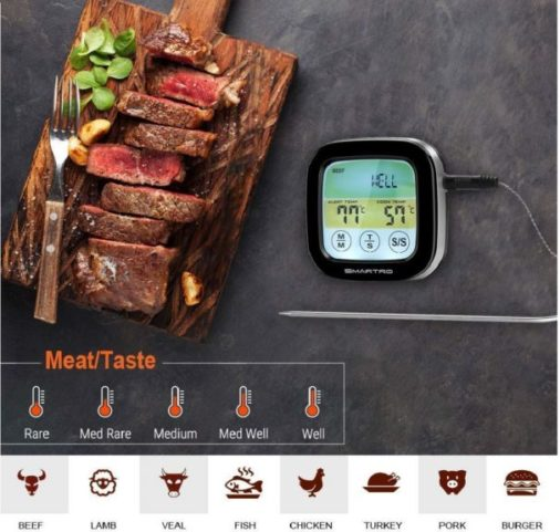 8.ST59 Digital Meat Thermometer for Oven BBQ Grill