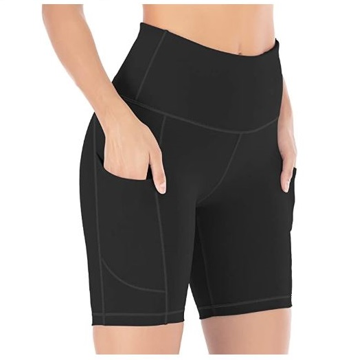 11.IUGA Yoga Shorts for Women Workout Shorts Tummy Control Running Shorts with Side Pockets