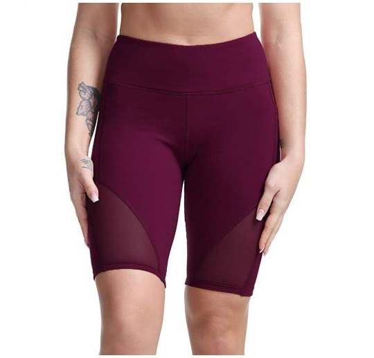 14.TYUIO High Waist Workout Yoga Shorts for Women Running Biker Shorts with Pockets