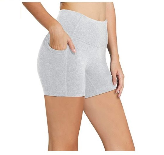 2.BALEAF Women's 8 5 2 High Waist Workout Yoga Running Compression Exercise Shorts Side Pockets (RegularPlus Size)
