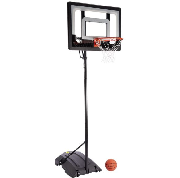 3.SKLZ Pro Mini Hoop Basketball System with Adjustable-Height Pole and 7-Inch Ball