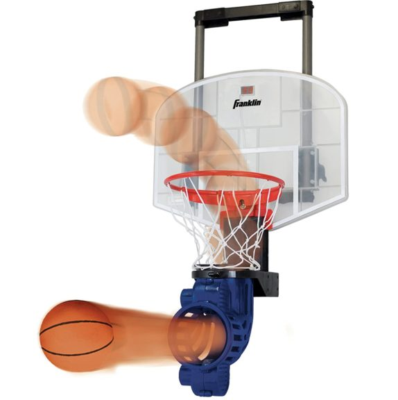 4.Franklin Sports Mini Basketball Hoop with Rebounder and Ball - Over The Door Basketball Hoop With Automatic Ball