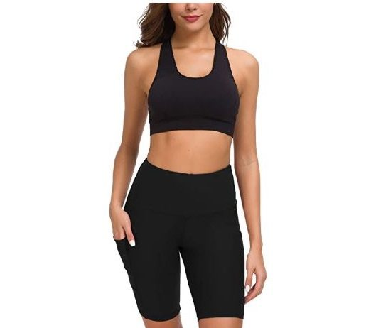 5.Custer's Night High Waist Out Pocket Yoga Pants Tummy Control Workout Running 4 Way Stretch Yoga Leggings