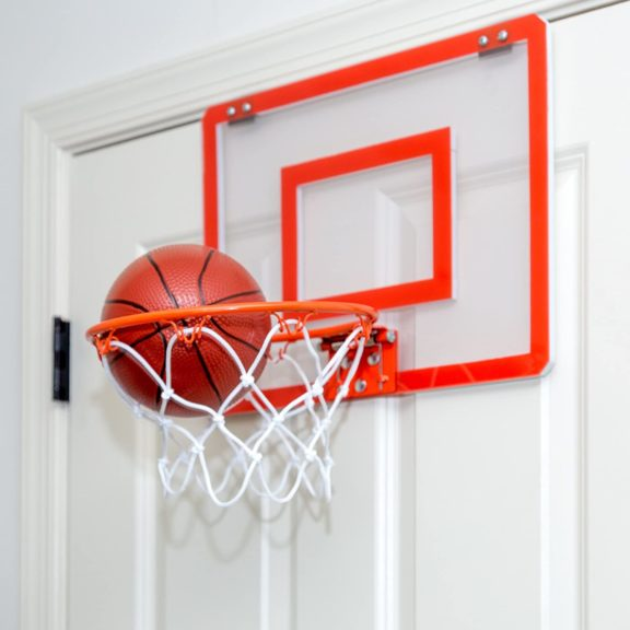 5.Play Platoon Mini Basketball Hoop for Door - 16 x 12 Inch Bedroom Basketball Hoop Indoors Set