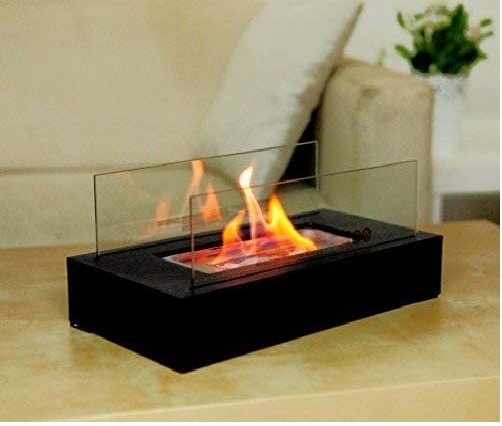 6.GOOD GO SHOP Fire Desire's Cubic bio Ethanol Fireplace, Table Top, Tempered Glass, Indoor Outdoor