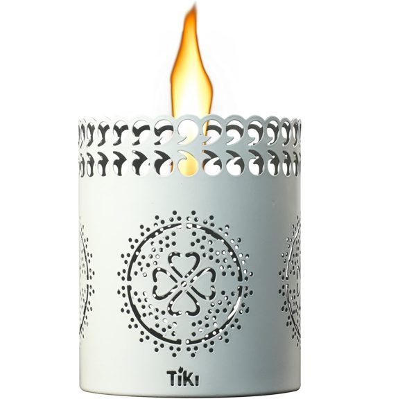8.Tiki 1117066 Tabletop Lantern White Brand Torch