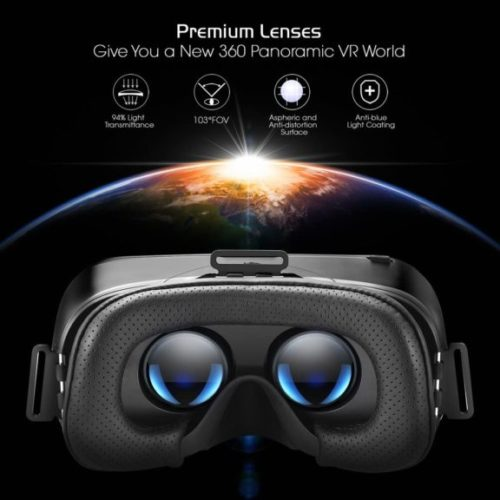 DESTEK V4 VR Headset, 103° FOV, Eye Protected HD Virtual Reality Headset w,Touch Button,Trigger