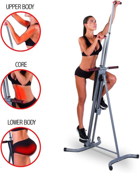 MaxiClimber(r) - The Original Patented Vertical Climber, As Seen On TV - Full Body Workout