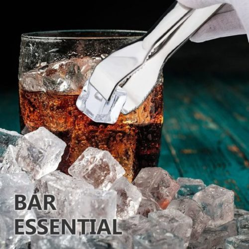 TRUSBER Ice Tongs for Ice Bucket, Stainless Steel Food Serving Tongs