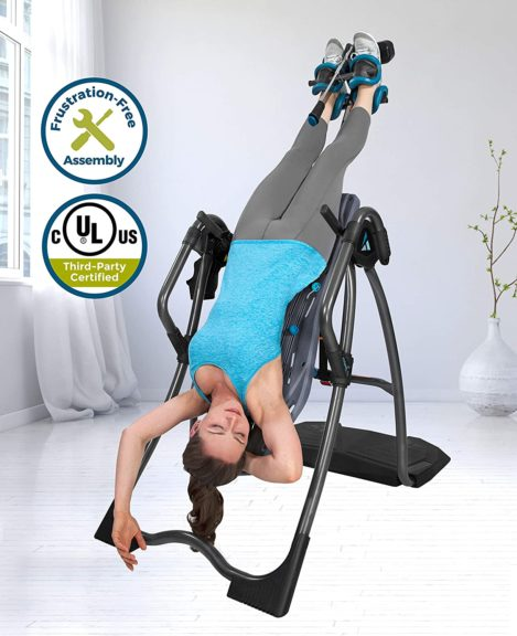 Teeter FitSpine LX9 Inversion Table, Deluxe Easy-to-Reach Ankle Lock