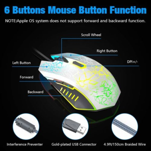 VersionTECH. Wired Gaming Mouse, Ergonomic USB Optical Mouse Mice with Chroma RGB Backlit