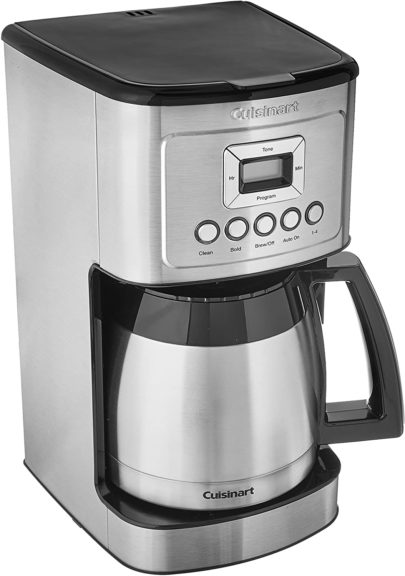 1.Cuisinart Stainless Steel Thermal Coffeemaker, 12 Cup Carafe, Silver