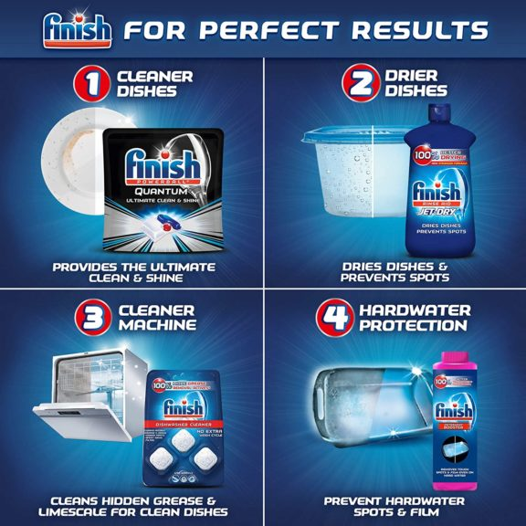 1.Finish Jet-Dry Aid, 23oz, Dishwasher Rinse Agent & Drying Agent, 23 Fl Oz (Pack of 1), Plum & Navy