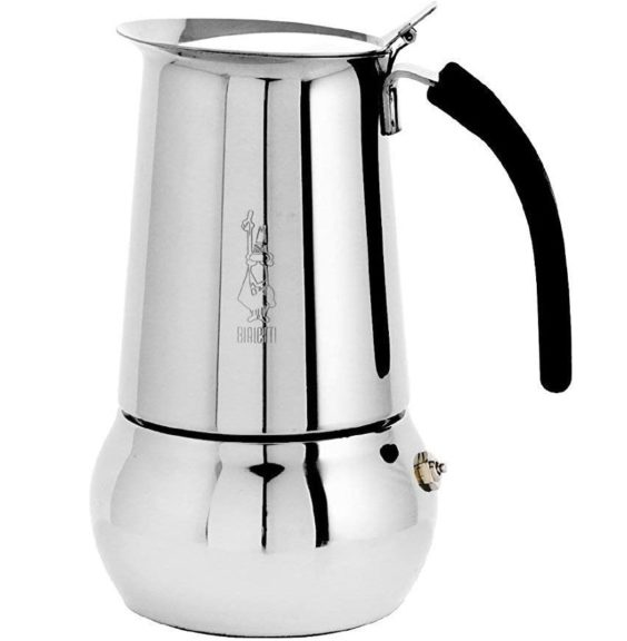 11.Bialetti 06661 Kitty Espresso Coffee Maker, Stainless Steel, 6 cup
