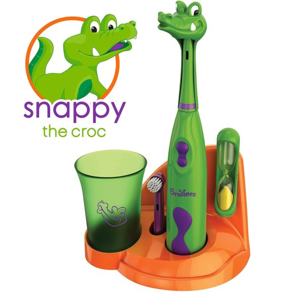 11.Brusheez Kid's Electric Toothbrush Set (Safari Edition) - Snappy The Croc - Includes Battery