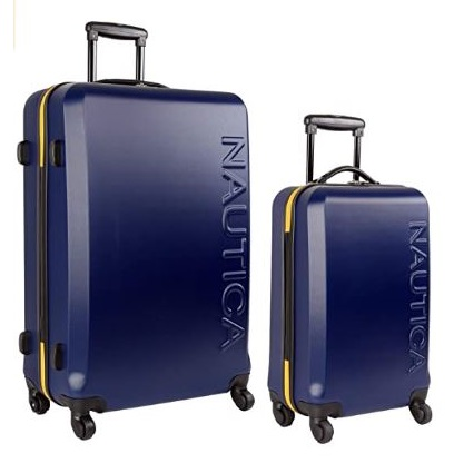 11.Nautica Hardside Carry On Luggage-20 Inch Spinner Wheels Suitcase