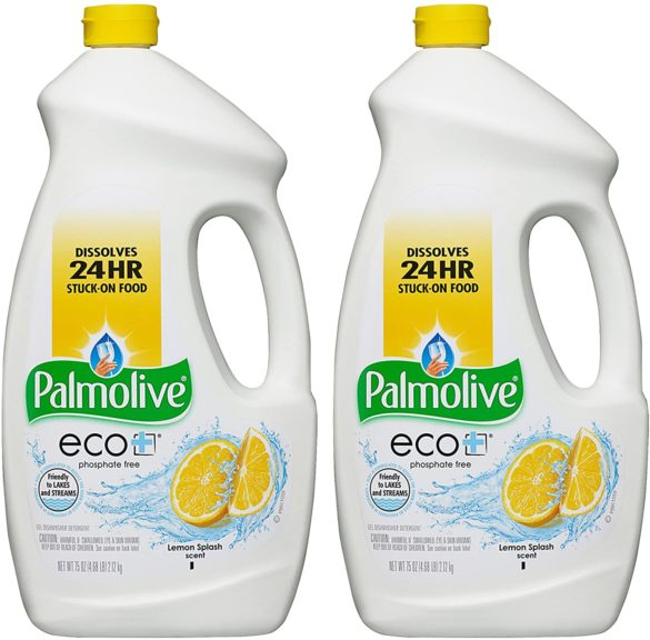 12.Palmolive Eco Gel Dishwasher Detergent, Lemon Splash, 75 Fl Oz, 2-Pack